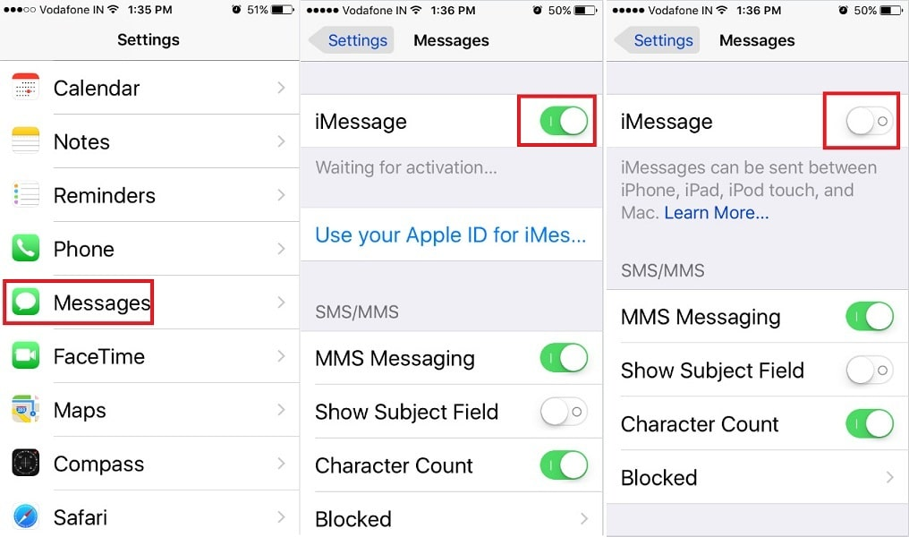 How to Sign-out iMessage and again Sing-in iOS 10