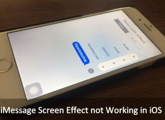 how to iMessage Screen Effect not Working in iOS 10: iPhone, iPad, iPod touch
