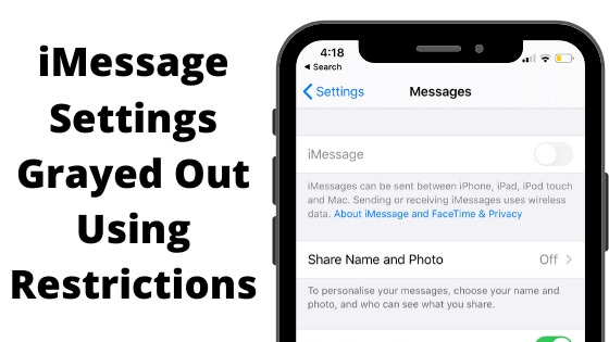 iMessage Settings Grayed Out Using Restrictions (1)