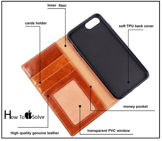 The Classic Vintage look leather Wallet case iPhone 7