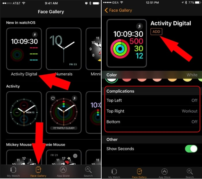 1 Add new face in Apple watch from iPhone watch app