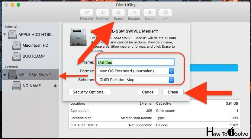 Formate External USB drive on Mac
