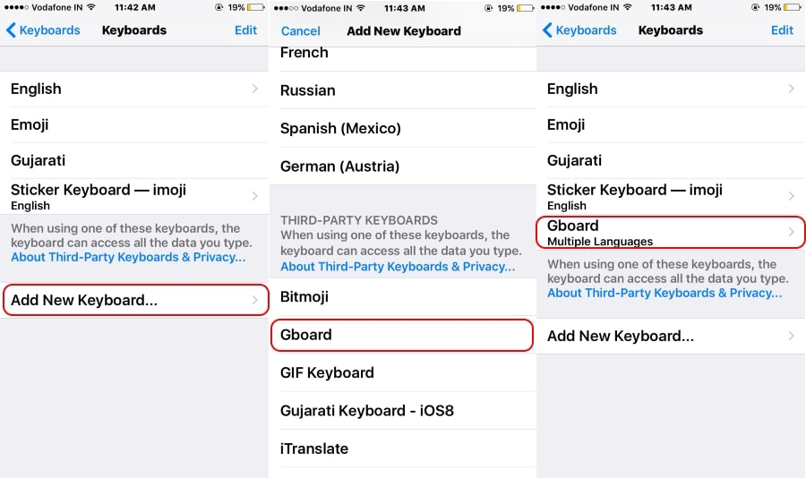 2 Add installed Keyboard in keyboard pane on iPhone copy