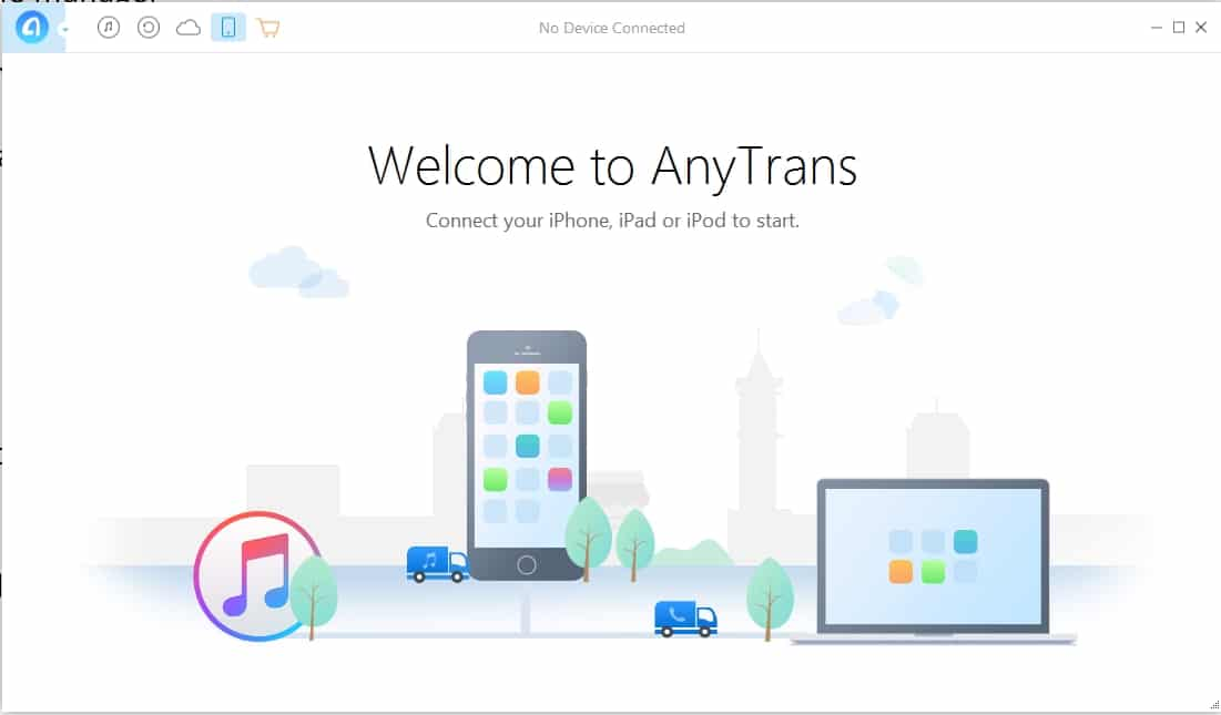 2 AnyTrans Best iPhone manager inplace for iTunes