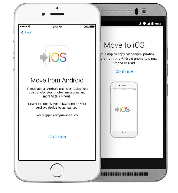 2 Using app move or Transfer android data to iPhone 7 or iPhone 7 Plus