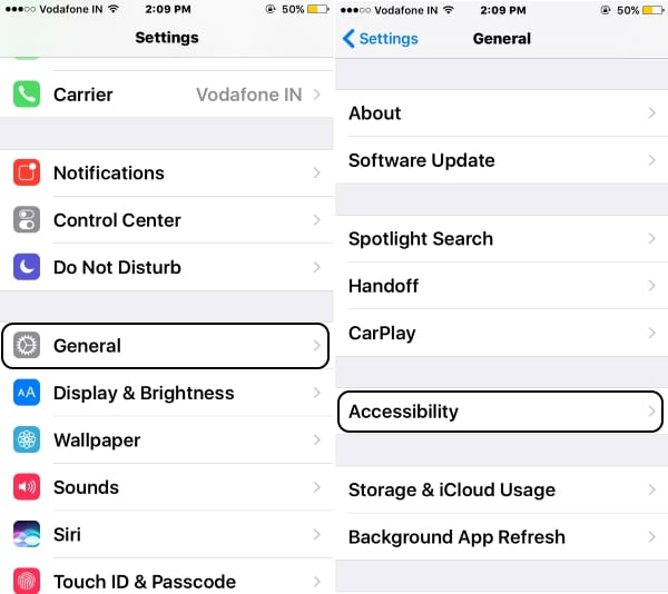 3 Accessibility on iPhone settings