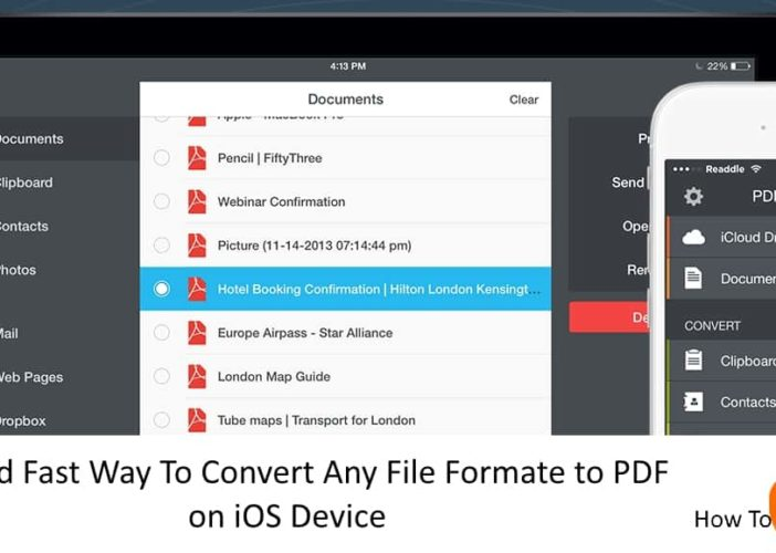 3 Convert Any File Formate to PDF on iPhone and iPad with iOS 10