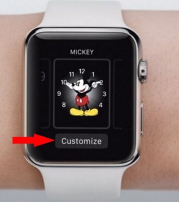 3 Customize Apple watch face on Apple watch