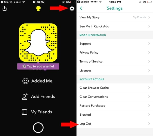 3 Settings on Snapchat on iPhone iPad