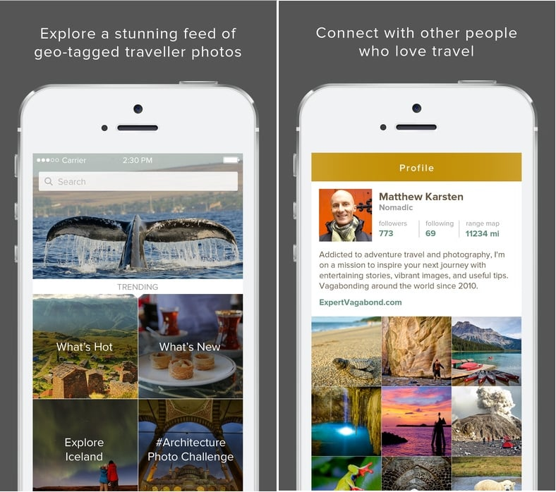 3 Trover iOS app for Travel and trip