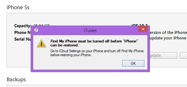 Turn off Find my iPhone on iPhone or iPad