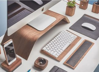 Wooden iMac Stand