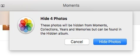 3 confirmation popup for hide pictures