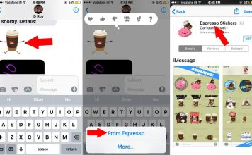 4 Find iMessage app from sticker in App store in iPhone