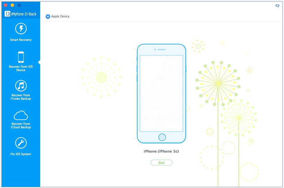 4 Start Scan iOS device on software