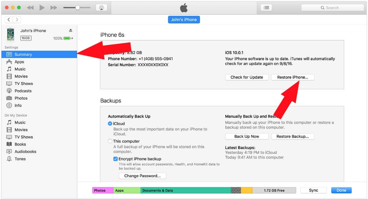 5 Restore iPhone and iPad from old backup using iTunes