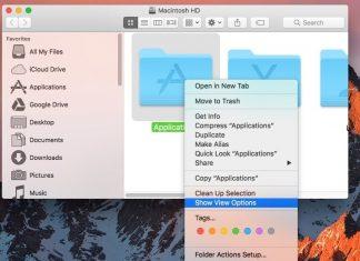 Show view option on Mac