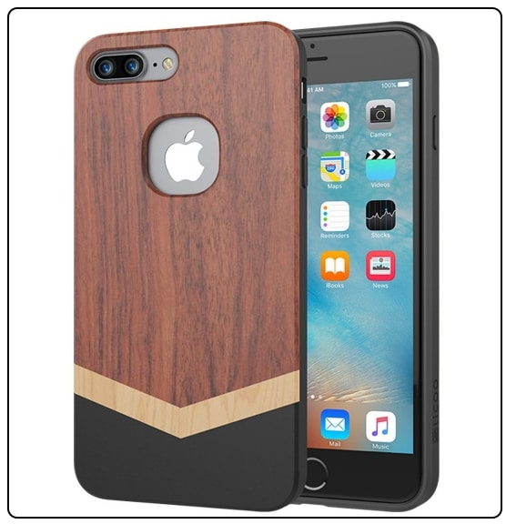 5 Slicoo iPhone 7 Plus wooden case