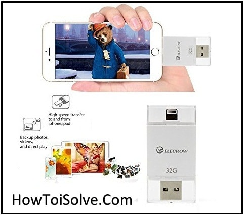 Elecrow external storage flash drive for iPhone 7