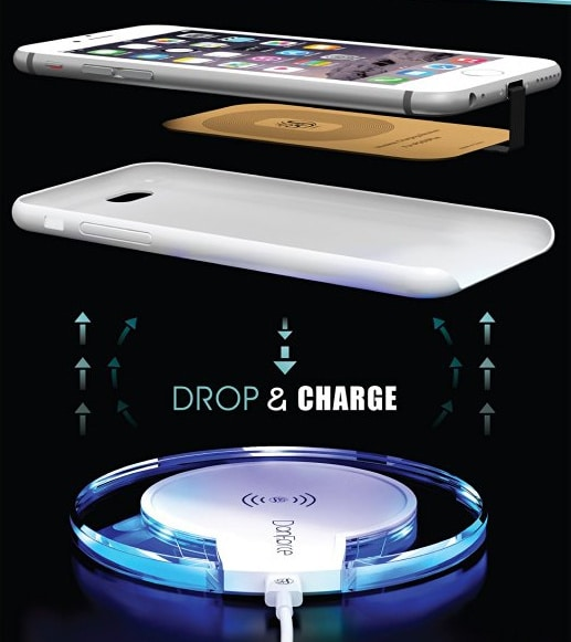best iphone 7 plus wireless charger kit charge your phone. Black Bedroom Furniture Sets. Home Design Ideas