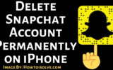 Delete Snapchat Account Permanently on iPhone