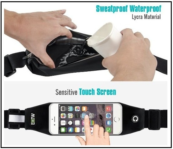 EOTW Running Waist Belt for iPhone with water bag holder