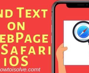 Find Text on WebPage in Safari iOS