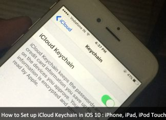 Set up iCloud Keychain in iOS 10 iPhone 7, iPhone 7 Plus