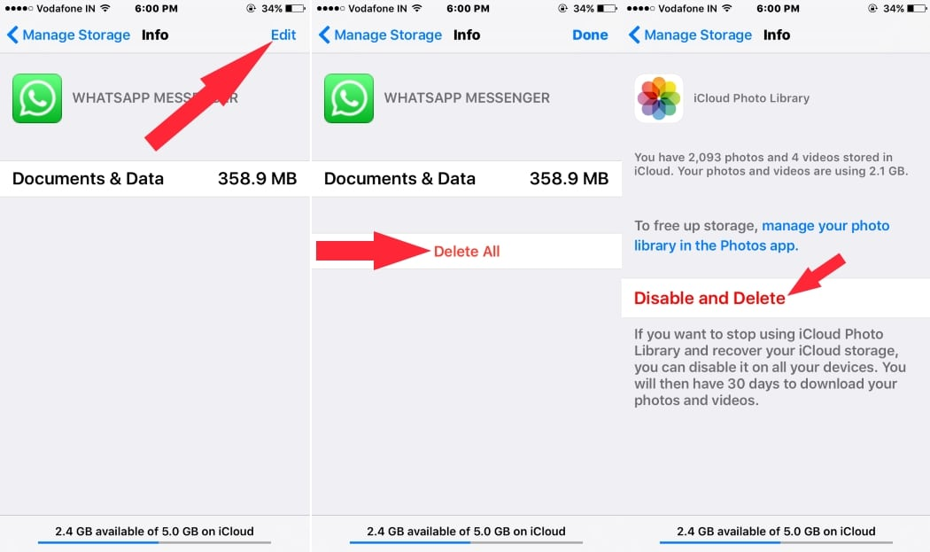 How to Manage/ Free up iCloud Storage space from iPhone ...
