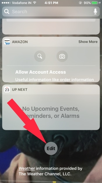 3 Включить виджет на iPhone