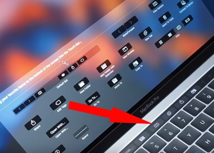 5 Customize Touch Bar on Macbook pro 13 or 15 inch