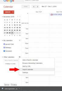 How to move iCloud Calendar to Google Calender [PC]