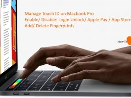 6 Manage Touch ID on Macbook Pro Add New Fingerprints or Delete