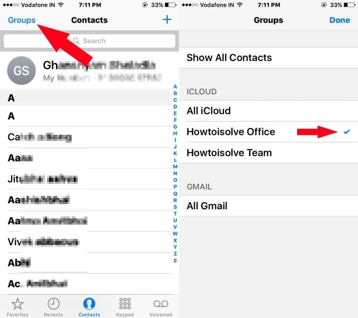 6 See Create group and manage contacts using group on iPhone