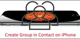 7 Create Group in iPhone contact app
