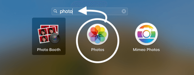 Find and Open Apple Photos app on MacBook Mac