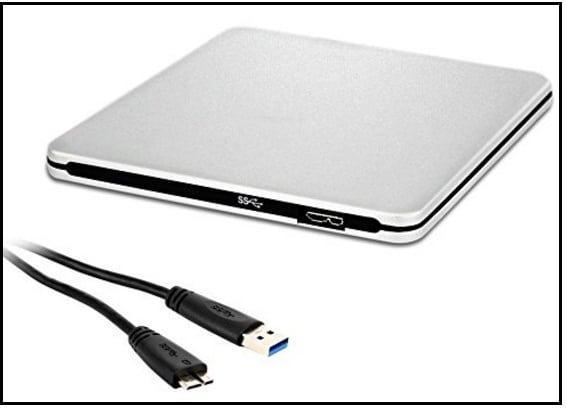 LinGear USB 3.0 Portable external CD/DVD burner