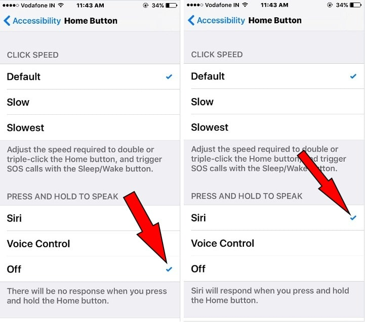 how to turn off home button for Siri on iPhone