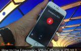 Turn off Emergency SOS on iPhone in iOS 10.2