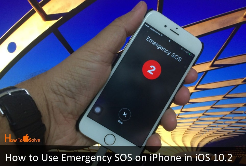 Turn off Emergency SOS on iPhone in iOS 10.2