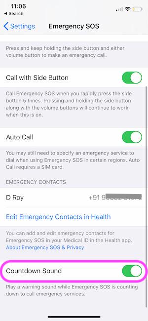 SOS Sound on iPhone