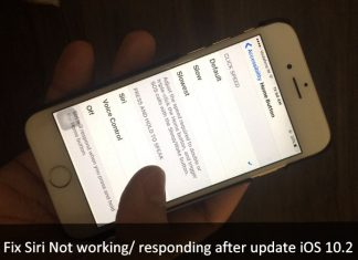 How to Fix Siri Not working/ responding after update iOS 10.2