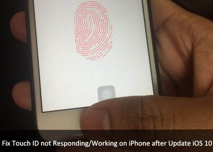 Touch ID Not working after update iOS 10 on iPhone
