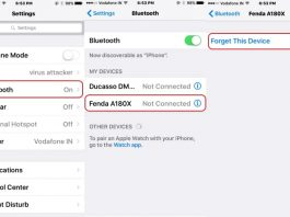 1 Bluetooth Forgot on iPhone for Airport