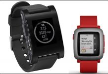 1 Pebble Smartwatch for iPhone and iPad compatible in Best Apple Watch alternatives 2017