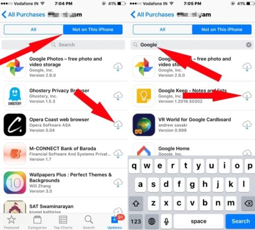 2 Download App from iCloud account to new iPhone