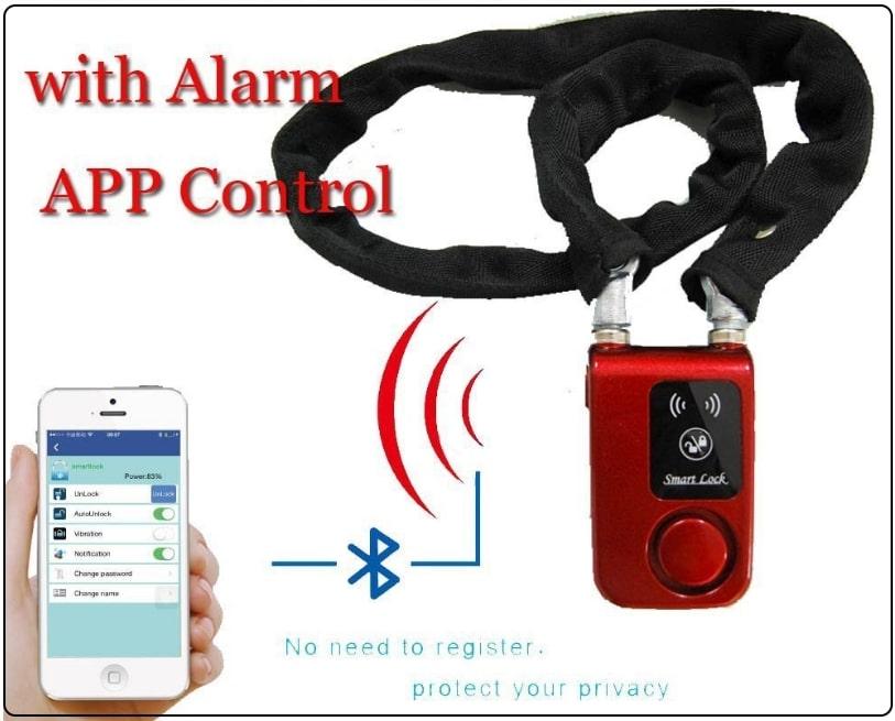 2 Smart Lock with Alarm Lock APP Control