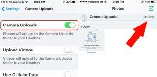 3 Move iCloud photo to Dropbox using iPhone or iPad