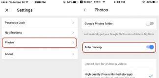 3 Start auto backup photo on google drive app