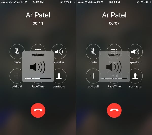 4 Adjust call volume on call time from iPhone 7 and 7 Plus (1)